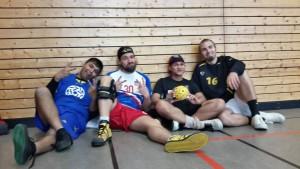 Erschöpft nach zwei aufregenden Turniertagen:  Team Köln 3 - Sieger Division B